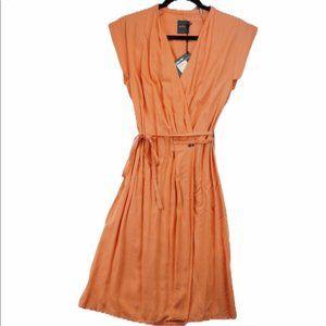 NWT Gsus Sindustries sleeveless wrap dress